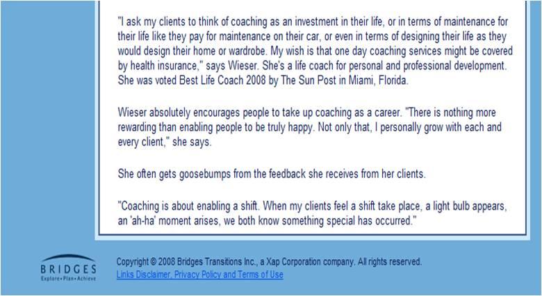 Self-improvement coach interview